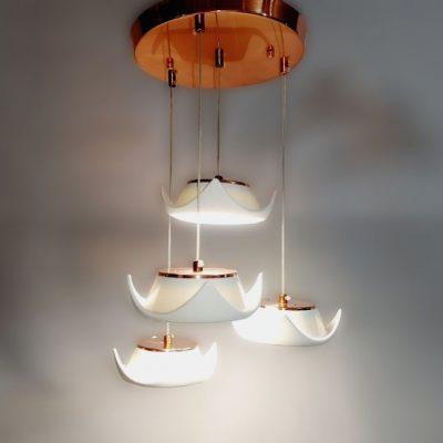 لوستر LED سراميكی طرح چهارگوش