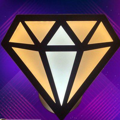 فروش لوستر دیواری طرح الماس