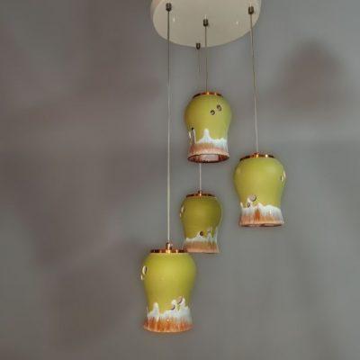 لوستر LED سراميكی طرح 2