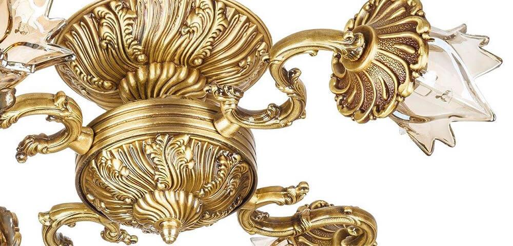 لوستر آبکاری طلا